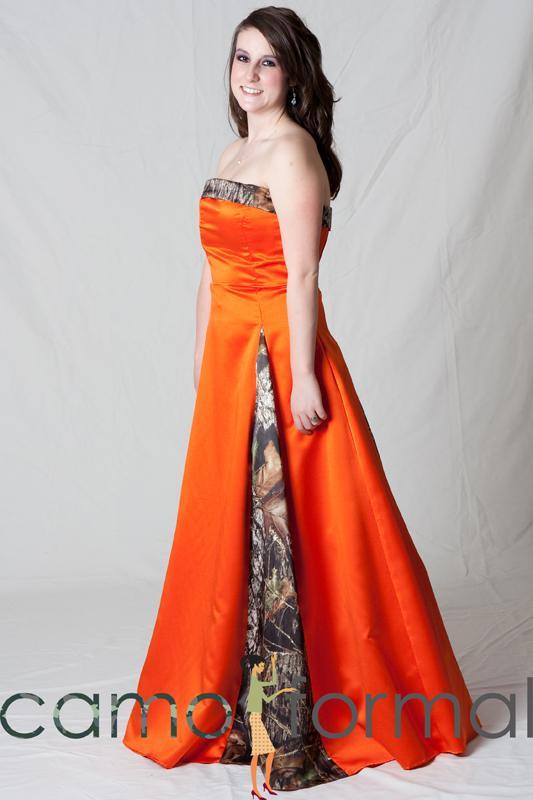 camo and orange bridesmaid dresses wwwimgkidcom the